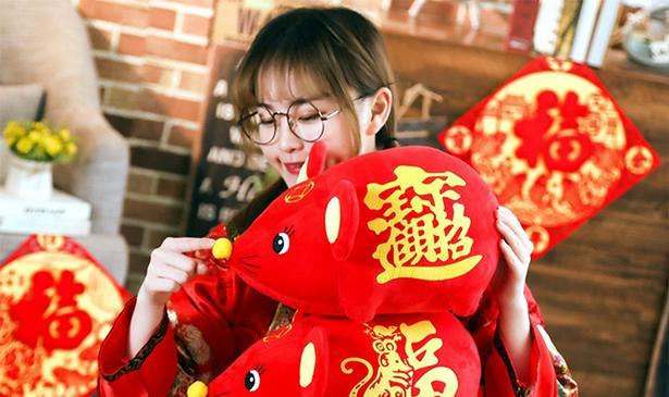 Мышь китайская, новогодняя, корпоративная